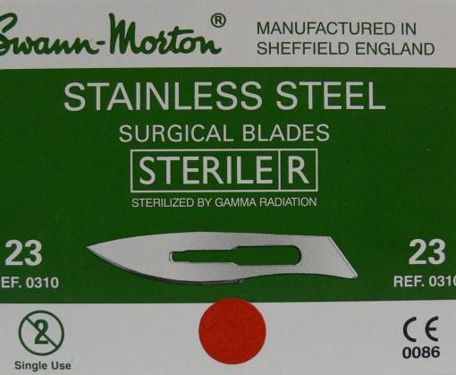 Čepelka skalpelová č.23 sterilní